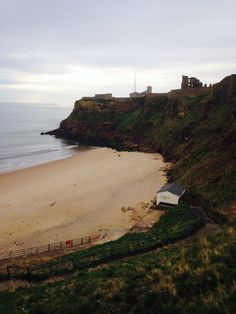King Edwards bay looking over tynemouth castle and priory Monday 7.30 am 7 th April 2014