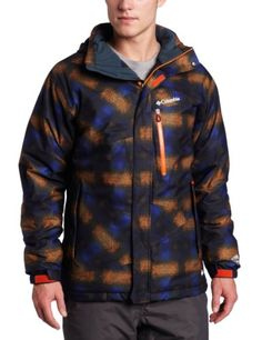 Columbia Mens Fused Form II Jacket Autumn Orange Multi Plaid Prin XXLarge >>> Be sure to check out this awesome product. Camping Clothing, Hiking Clothes, Camping Outfits, Mens Outdoor Clothing, Outdoor Recreation, Outdoor Outfit, Columbia, Action, Leather Jacket