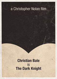 The Dark Knight (2008) ~ Minimal Movie Poster by Gidi Vigo ~ Superhero Series #amusementphile