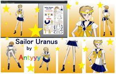 Sailor Uranus papercraft by Antyyy.deviantart.com on @DeviantArt