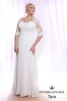 805c2314ab2 Curvy wedding gowns- white collection