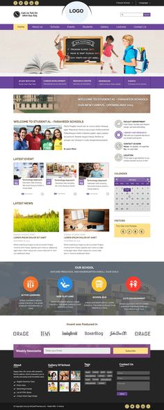 Unique Homepages, Advanced WP LMS Plugin, Easy timetable Calendar and list of events, Unique Header Layouts, Powerful Header Builder and many more. Education Website Templates, List Of Courses, Website Design Layout, Portfolio Web Design, Best Web Design, Educational Websites, School Themes, Online Courses, Private Website