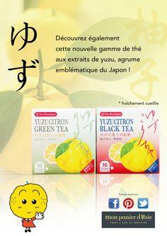 Thé vert et thé noir aux extraits de yuzu !