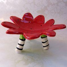 ceramic dish..totally fun ceramic artist: Mary Judy