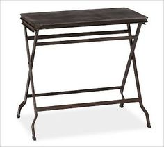 Carter Metal Folding Tray Table, Black - traditional - side tables and accent tables - by Pottery Barn