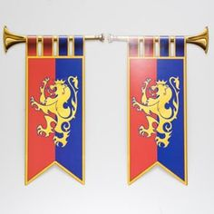 Shop for Royal Trumpet Banner Cutouts, Decorations, Cutouts. Plus tons of other stunning Cutouts party supplies, favors, and decorations. Medieval Banquet, Medieval Party, Banner Shapes, Knight Party, Royal Party, Dragon Party, Dinner Themes, Medieval Knight, Childrens Party