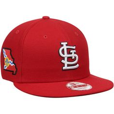 St. Louis Cardinals New Era State Stare Original Fit 9FIFTY Snapback Adjustable Hat - Red