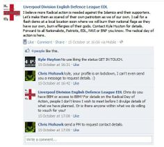 """Liverpool #EDL want to burn effigies of """"Muslim gods."""" Whoever they happen to be... via @Ed4444"""