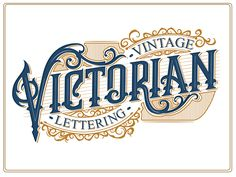 Typography - Vintage Victorian Lettering by Bangkit Tri Setiadi Popular - CoDesign Magazine Logos Vintage, Retro Logos, Vintage Logo Design, Vintage Typography, Vintage Type, Vintage Graphic, Vintage Hair, Design Typography, Typography Letters