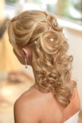 Mother of the Bride Hairstyles Medium Length | Half up half down wedding hairstyles for medium length hair pictures 3
