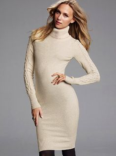 Turtleneck Sweaterdress - Victoria's Secret   brown or black boots ....