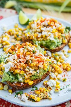 Esquites (Mexican Corn Salad) Avocado Toast Recipe on Closet Cooking Mexican Food Recipes, Vegetarian Recipes, Cooking Recipes, Cooking Tips, Easy Healthy Recipes, Delicious Recipes, Healthy Choices, Easy Meals, Food Blogs