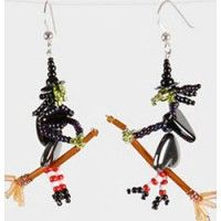 Beadwitched Earrings | InterweaveStore.com  These are the cutest thing I have seen for Halloween!