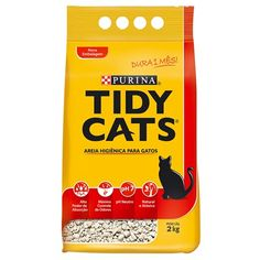 TIDY CATS AREIA HIGIENICA P/ GATOS 2 KG - PURINA Meu Amigo Pet - Petshop Online - Meuamigopet.com.br #cat #cats #gato #gatinho #bigode #muamigopet