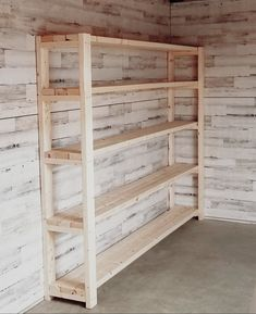 Garage Organization Tips, Garage Storage Shelves, Pallet Shelves, Shed Storage, Diy Storage, Pallet Garden Furniture, Outdoor Furniture Plans, Garage Makeover, Diy Wood Projects