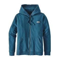 W's Pastel P-6 Label Midweight Full-Zip Hoody, Big Sur Blue (BSRB)