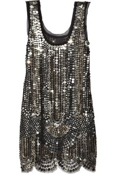 Anna Sui|Silk-tulle sequin-embellished dress |NET-A-PORTER.COM