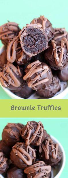 Brownie Truffles #brownies #browniesrecipe #browniesdechocolate Brownie Truffles Recipe, Cake Truffles, Brownie Recipes, Cookie Recipes, Candy Recipes, Dessert Recipes, Bar Recipes, Dessert Ideas, Recipies