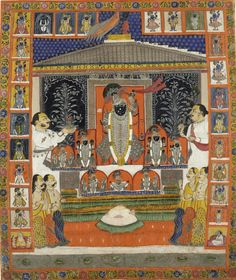 Image result for Nathdwara now has pretty much a similar number of unique Pichwai craftsmen as are accepted to have went with Lord Shrinathji on his excursion from Braj to Mewar.