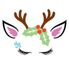 Christmas Reindeer Unicorn design from FoxSister Christmas Unicorn, Christmas Vinyl, Christmas Rock, Diy Christmas Cards, Outdoor Christmas Decorations, Christmas Printables, Christmas Crafts, Christmas Ornaments, Shabby