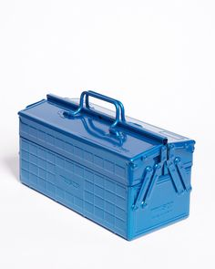 The Trusco toolbox is a rare find. It's tough, it's undeniably blue, and it presents super cool design with great pragmatism. The distinctive profile and understated Japanese design are head-turning, but the solid construction, smooth DeLoreanesque hinges and variable organizers really drew us in. Even the handles feel good. TheTrusco family of tool boxes are all pretty enough to put on the mantle, but useful enough to keep in heavy rotation. We were obsessed at first sight. It took ...