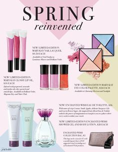Mary Kay Spring Reinvented Collections is here!! Download this flier for FREE!!