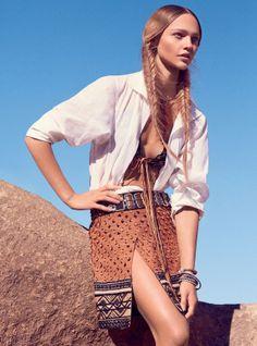 Sasha Pivovarova by Mikael Jansson for Vogue US February 2014 1