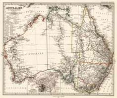 Antique Map Australia Petermann, A. 1869