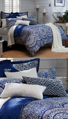 Elka quilt cover by Kas, Australia. Blue Rooms, Quilt Cover, Bed Room, Towels, Comforters, Bedding, Australia, Curtains, Throw Pillows
