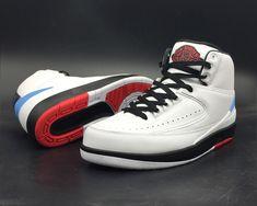 new concept 1d0a7 bb113 Air Jordan 2 Alumni White and Varsity Red-Black-University Blue - Air Jordan