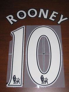 Other Soccer 2914: Manchester United Rooney #10 Authentic Soccer Name Set Font For Jersey Futbol BUY IT NOW ONLY: $35.95