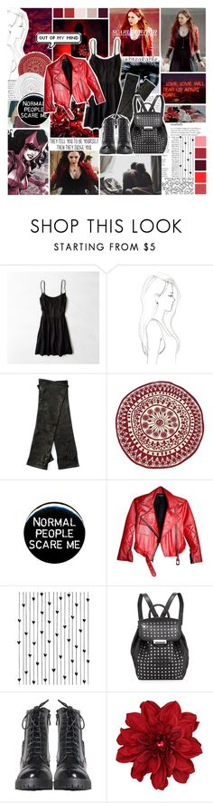 """""""Wanda Maximoff"""" by saffire9975 ❤ liked on Polyvore featuring Sarah Jessica Parker, Maria Bonita, American Eagle Outfitters, Monique Péan, Diane Von Furstenberg, nanimarquina, Camp, Alexander Wang and Clips"""