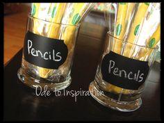 DIY Chalkboard Pencil Holder