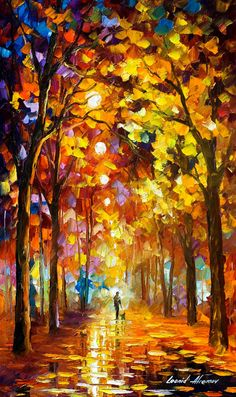 Listening To Silence  PALETTE KNIFE Landscape by AfremovArtStudio