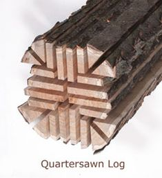 Quartersawn Log