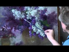 Short workshop with irises. Workshop in English from Oleg Buiko. Oil painting - YouTube