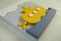 Decoración de la pared submarino amarillo madera 3D por EleosStudio