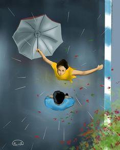 Love Cartoon Couple, Cute Love Cartoons, Anime Love Couple, Sad Paintings, Indian Art Paintings, Cute Pokemon Wallpaper, Cute Cartoon Wallpapers, Bengali Art, Animated Love Images