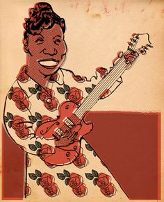 This portrait of Sister Rosetta Tharpe originally appeared as a detail in a 2005 New Yorker illustration