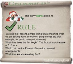 Present Simple with future meaning