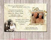 Wedding Anniversary Invitation with photos - 25th 50th 60th - YOU PRINT