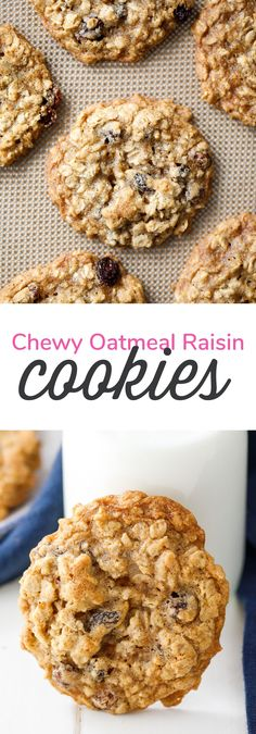 These delicious, chewy oatmeal raisin cookies are easy to make and well-loved in my family.