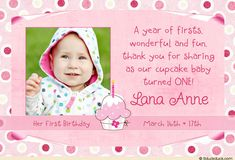 9 Best 1st Birthday Thank You Card Messages Images Birthday Thank