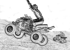 ATV Coloring Pages ATV Coloring Pages Free 4 Wheeler