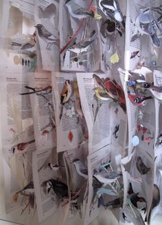 Jack Milroy - amazing 3d Collage, Random Thoughts, Notes, Birds, Artists, Paper, Amazing, People, Crafts