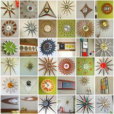 Now that's a clock collection-  from good web site for mid-century.  Secret Design Studio knows mid century modern architecture. www.secretdesignstudio.com