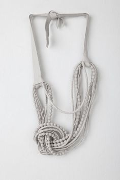 Natalia Brilli's Berenice leather necklace