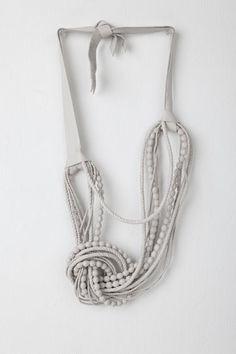 Natalia Brilli's Berenice leather necklace