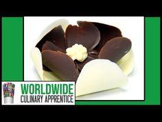 Easy Chocolate Flower - 3 Steps Chocolate Garnishes - Romantic Plating - Cake Decoration - YouTube