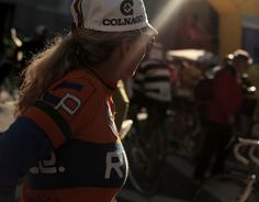 Eroica Girl with Colnago Bike Cap